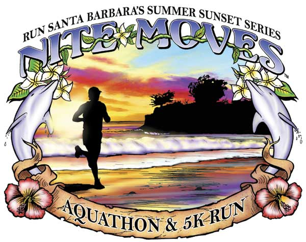 Nite Moves 2015 Tee : the Summer Sunset Series : Run Santa Barbara